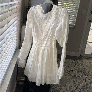 Free people white dress size 0